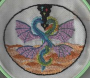 Twin Flames Needlepoint