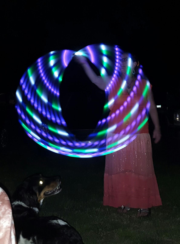 SS dog and hoop