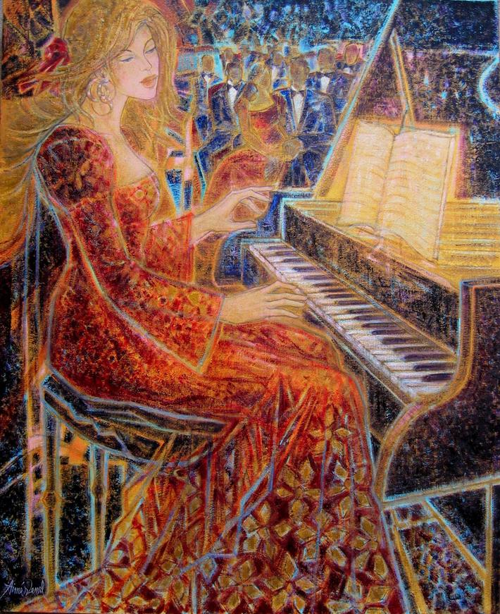 Concerto_huile sur toile_81 x 100 cm ; 32 x 40 inches