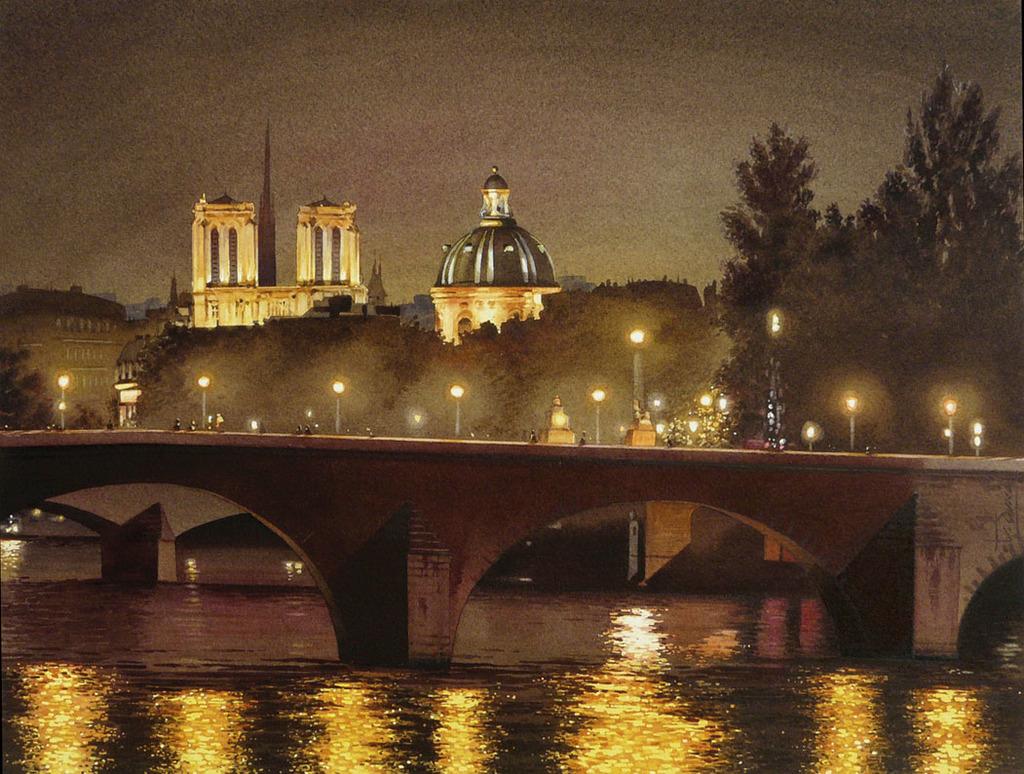 Minuit sur la Seine de Paris