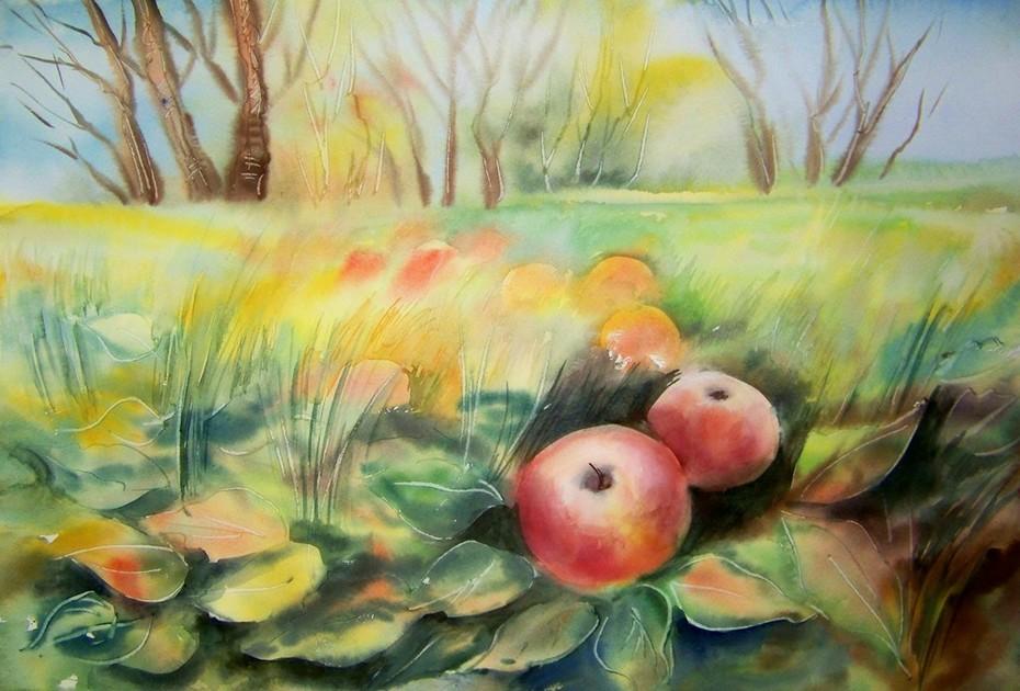 Pommes au sol