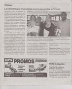 Un article de Ouest France concernant ma séance de dédicace du 15 mai 2016