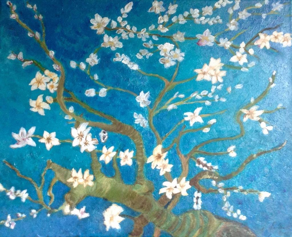 Repoduction Les fleurs d'Eglantiers Van Gogh