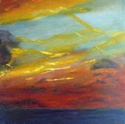 Peinture à l'huile LE CIEL  50 x 50