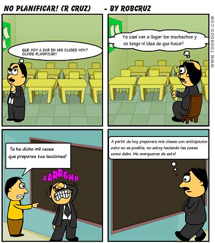 La NO PLANIFICACIÓN de clases. Robert Cruz