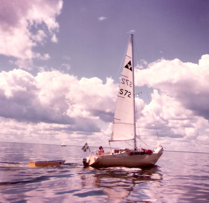 Becker 27 nr72 på blankt hav
