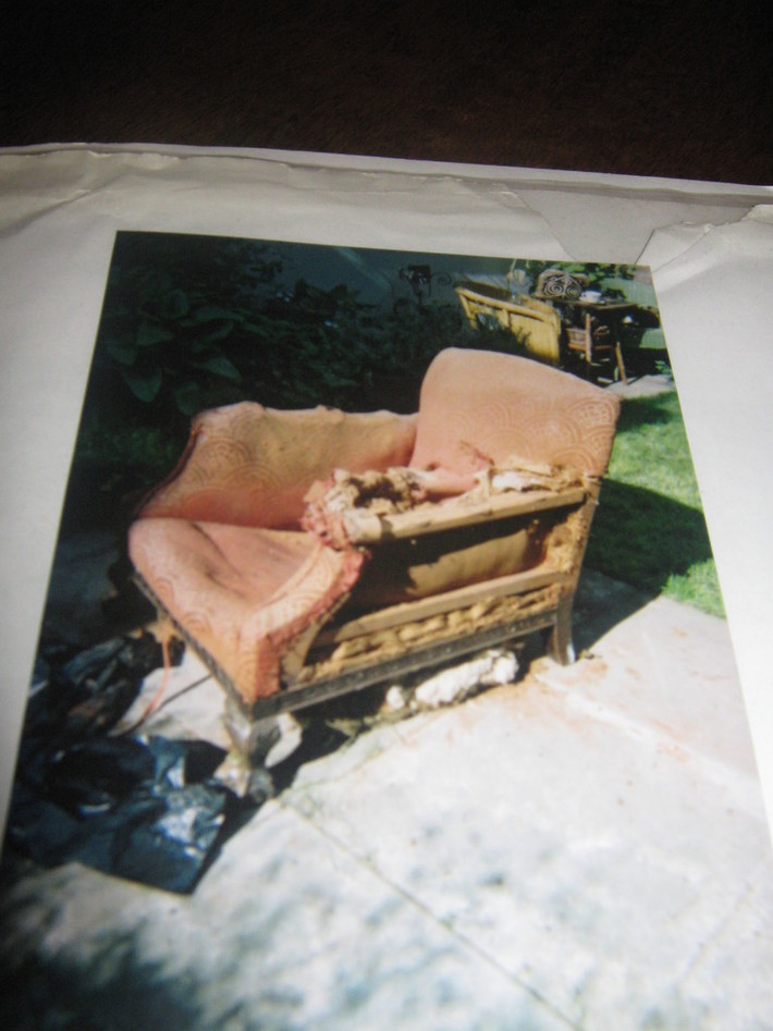 Armchair being stripped