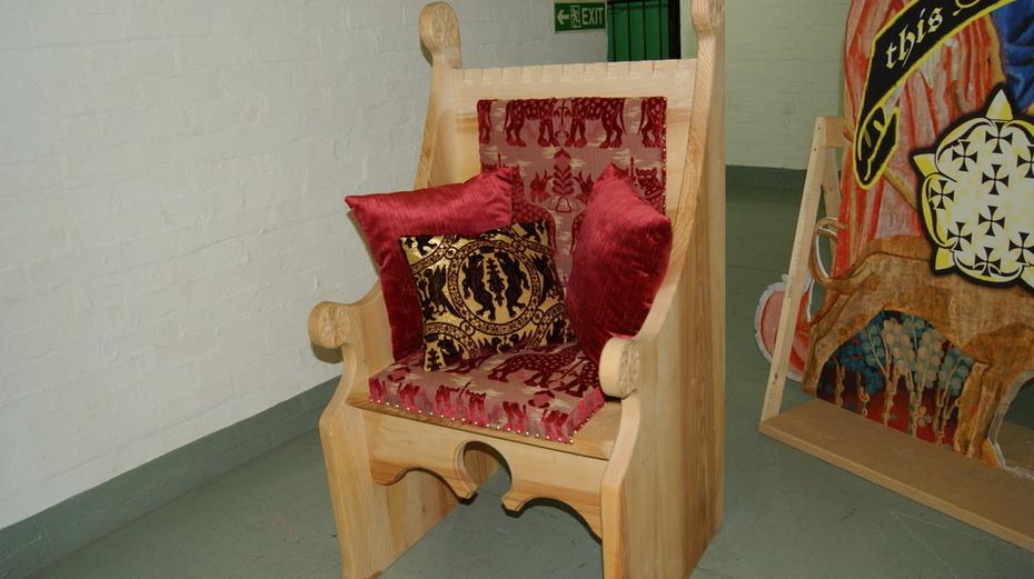 A replica 15th century ladies throne