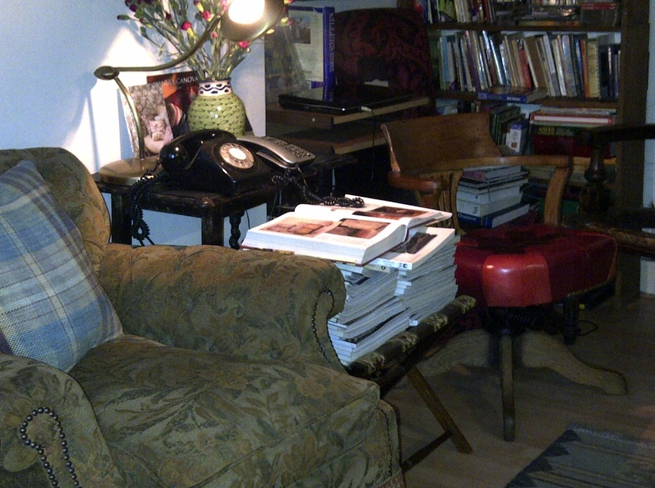 ..... and a comfy old armchair at the end
