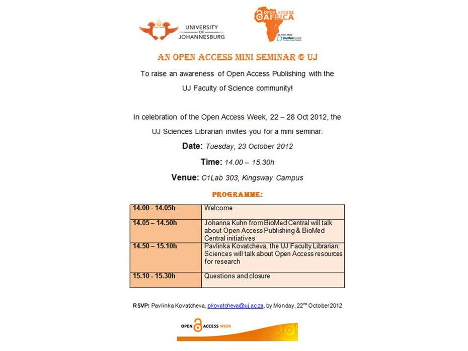OA invitation: 23 October 2012