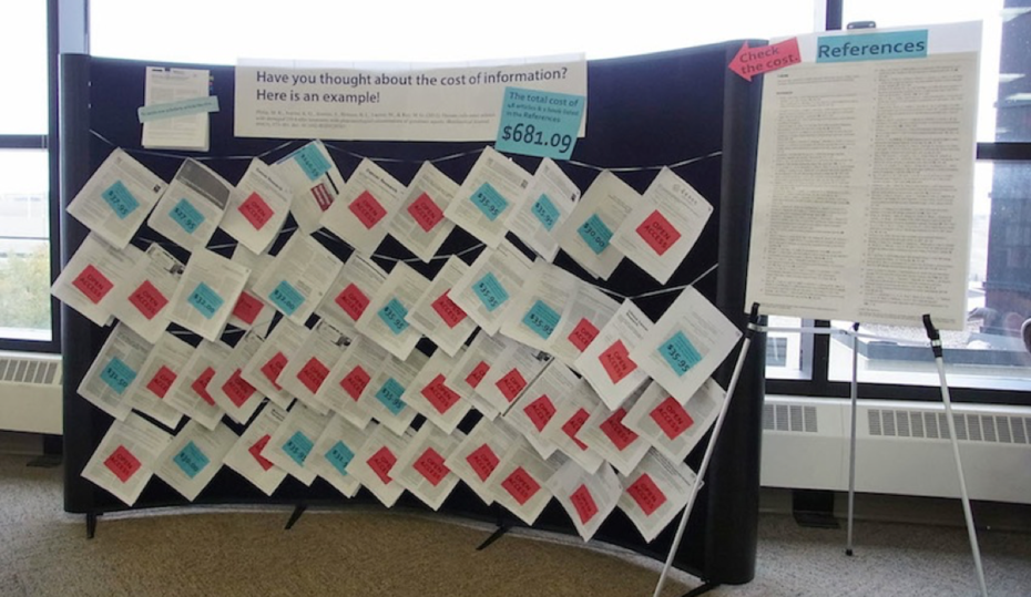 OA display in the University of Lethbridge Library (Oct. 2014)