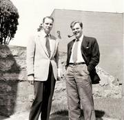 Dr. Tingle Visits Carolinian March 1957