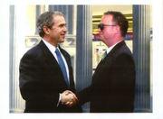 Eric Beam andPresident George W.