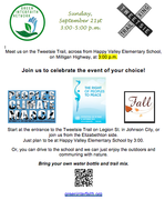 Invitation to Tweetsie Trail on 9-21-14