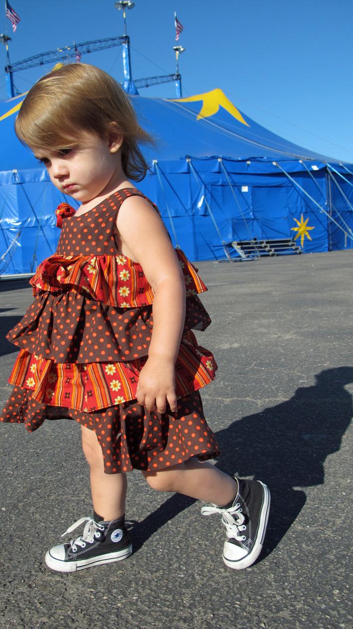 Gigi in her Circus dress 2
