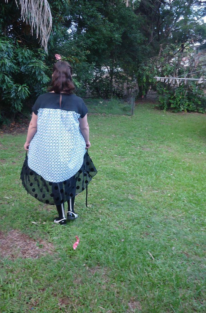 Social Dress- The Back, Unbelted