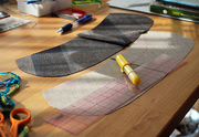 cutting out the collar