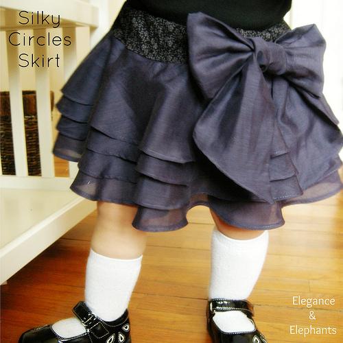 Silky Circles Skirt