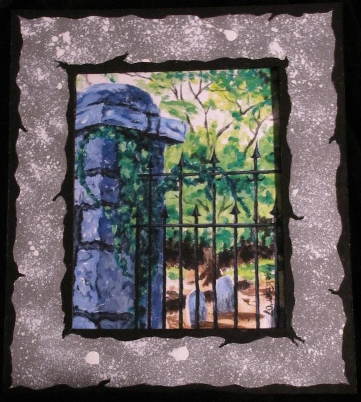 Decatur Cemetery Gate Large Print