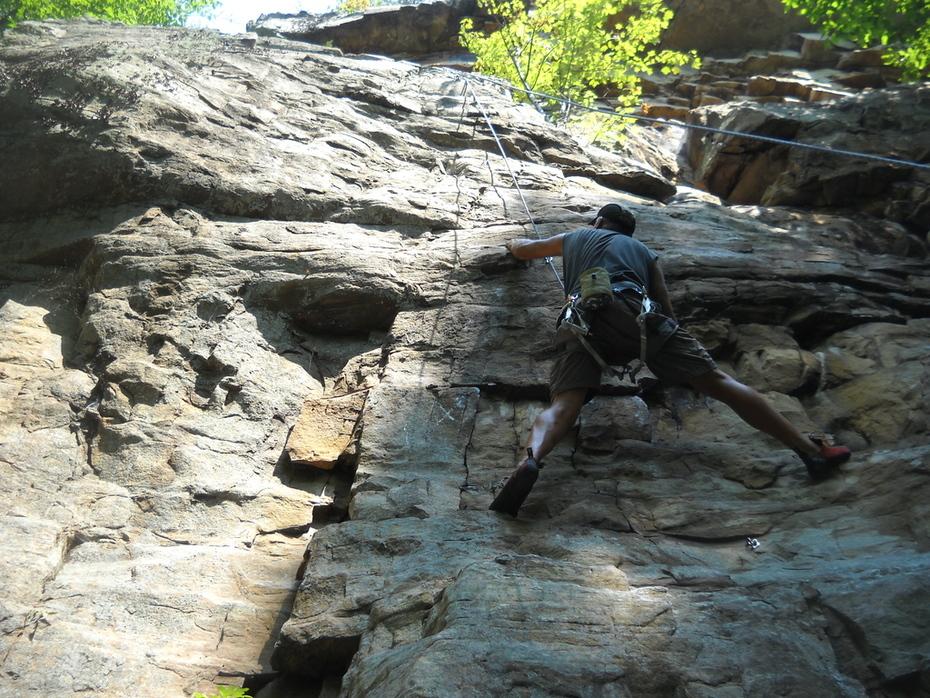 joey climbs at foster falls