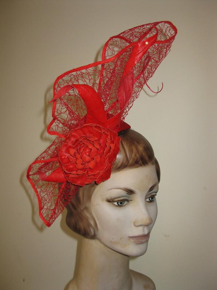 Red Peony Headpiece