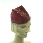 Leather Hat - Homage to Alexander Mcqueen Cat Ears