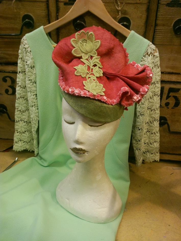 Parasisal Vintage inspired Hat by Victoria Henderson