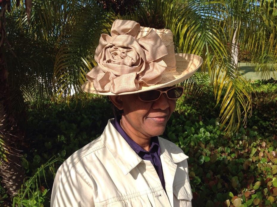 Bahamian straw wide brim fedora
