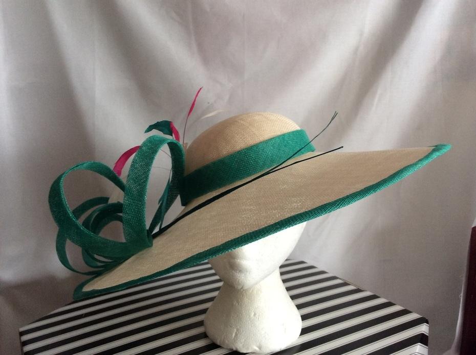 Sinamay large brim hat