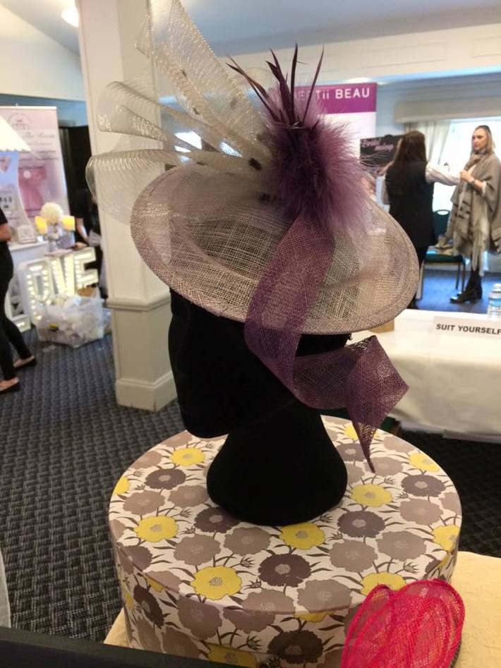 Doll's Mad Hattery Grey and Purple Saucer