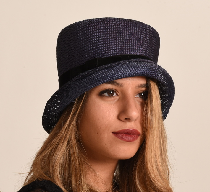 Hand dyed top hat