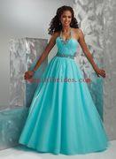 Tempting-Ball-Gown-Halter-Neckline-Floor-Length-Rhinestones-Tulle-Prom-Dress