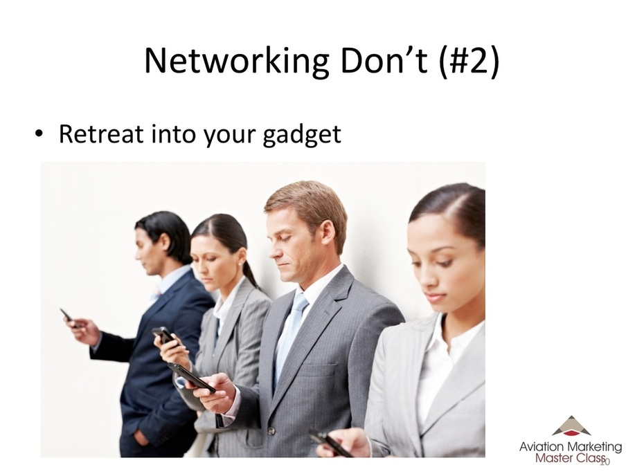 Aviation Marketing - Networking Don'ts for Aviation Events