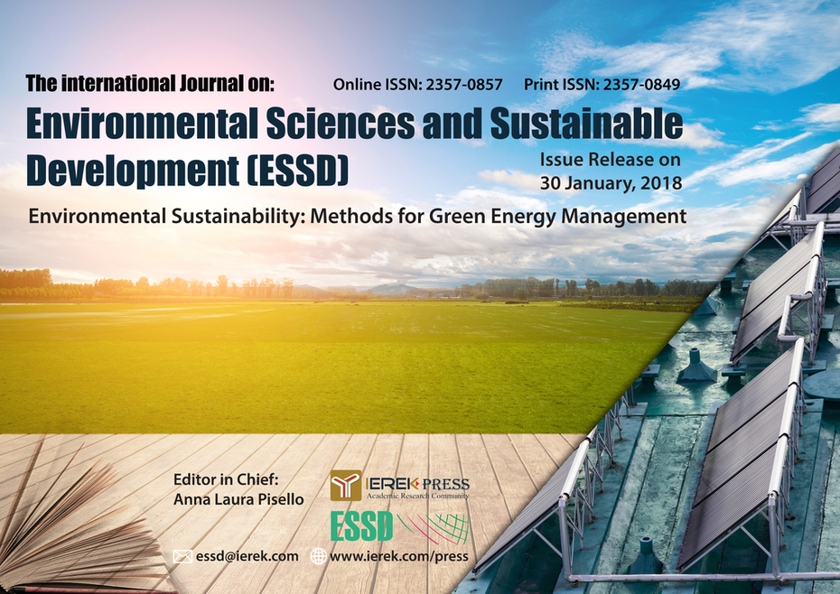 The International Journal of Environmental Science & Sustainable Development (ESSD)