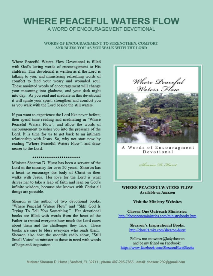 Where Peaceful Waters Flow Flyer