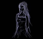 Skiss - Blått på svart