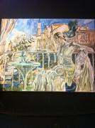 kvinna oljemålning