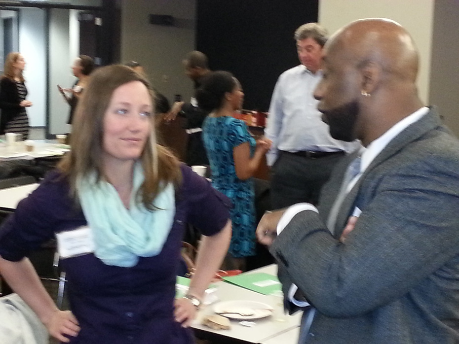 Networking at Tutor/Mentor Conference-a