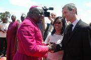 Archbishop Odama, Maria Yvette Reyes, and Matthew Scott