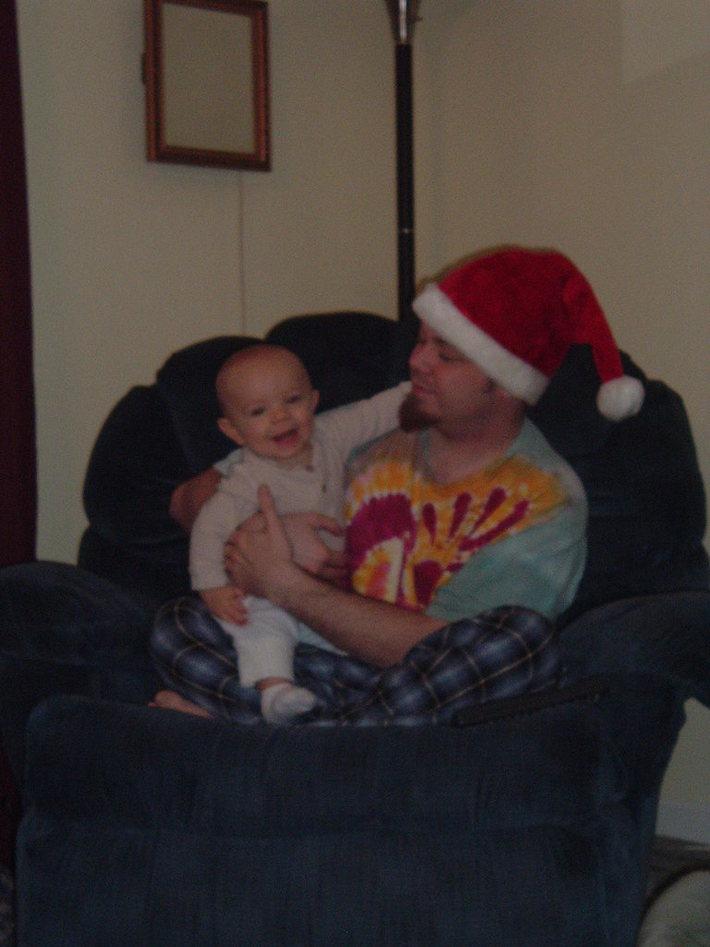 Rocky Roxtar Taulman with his son