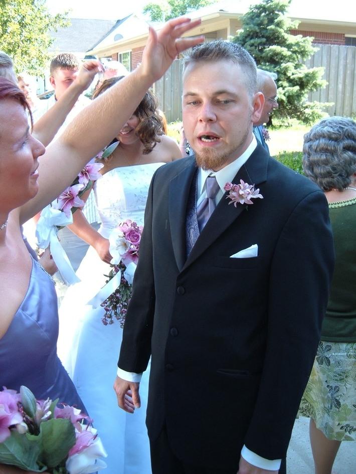 Rocky Roxtar Taulman on his Wedding Day