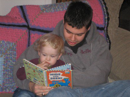 Chas reading to his nephew