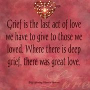 Grief act of love