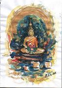 The Buddha - Work of art by Elisabetta Errani Emaldi