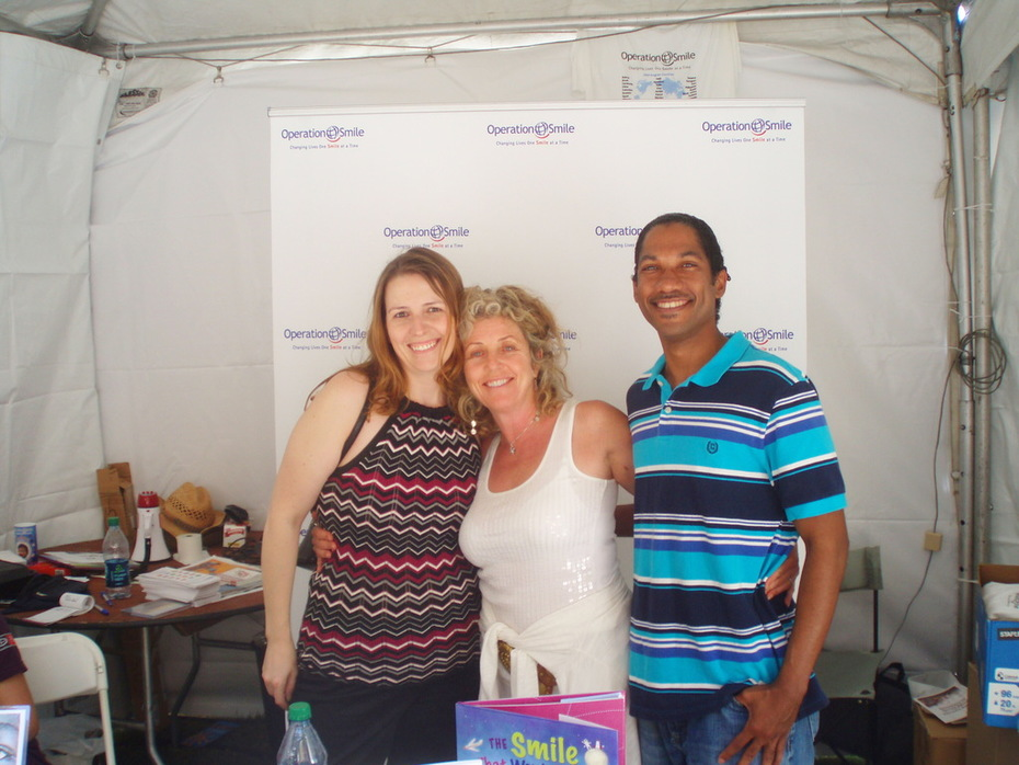 Book signing with Operation Smile