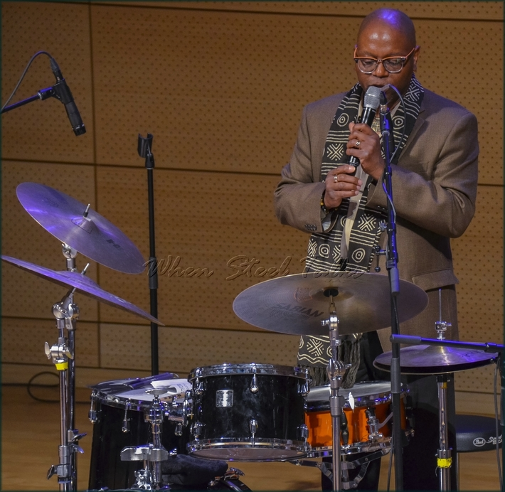 """Drummer & moderator Lewis Nash - from: """"Randy Weston presents Symposium in the Drum - From Africa to the New World"""""""