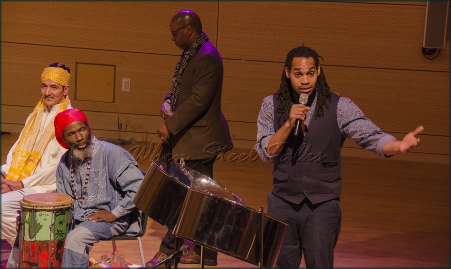 "Khuent Rose speaks on the steelband art form - ""Randy Weston presents Symposium in the Drum - From Africa to the New World"" - held in the Tishman Auditorium, New School, New York"