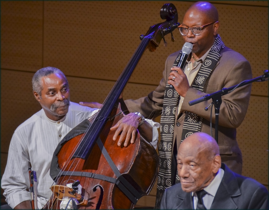 """Moderator Lewis Nash introduces Alex Blake, bass - from: """"Randy Weston presents Symposium in the Drum - From Africa to the New World"""""""