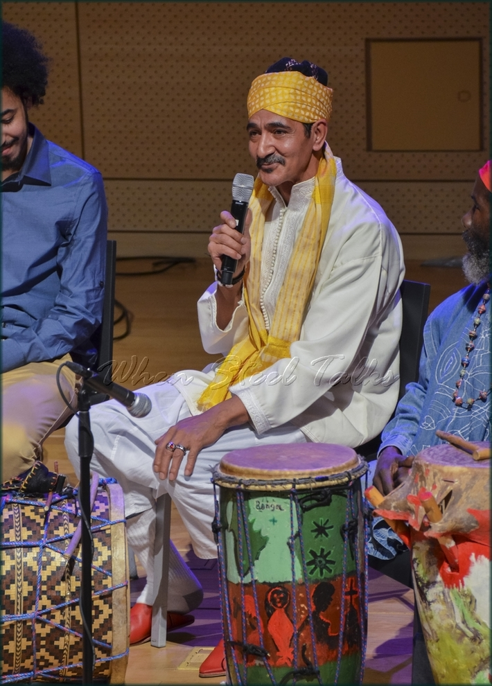 """Maalem Hassan Ben Jaafar (Morocco), Gnawa percussion - from: """"Randy Weston presents Symposium in the Drum - From Africa to the New World"""""""