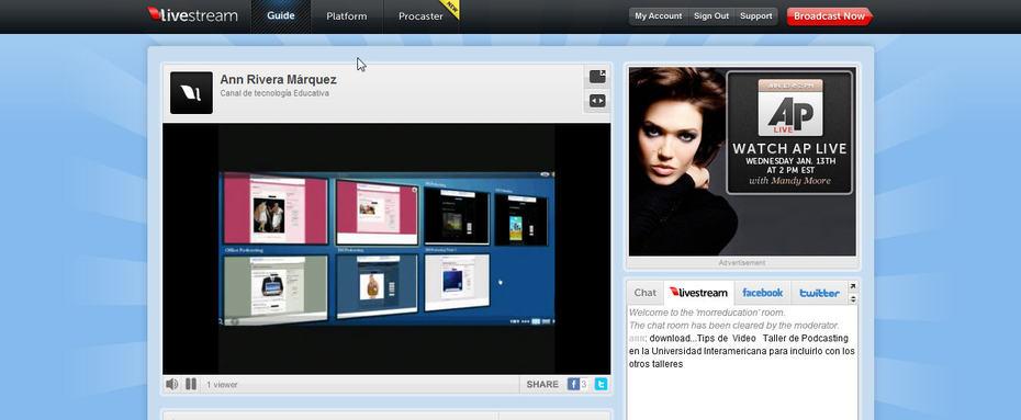 Livestream: Herramienta Educativa